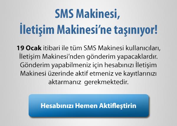 SMS Makinesi Taşındı